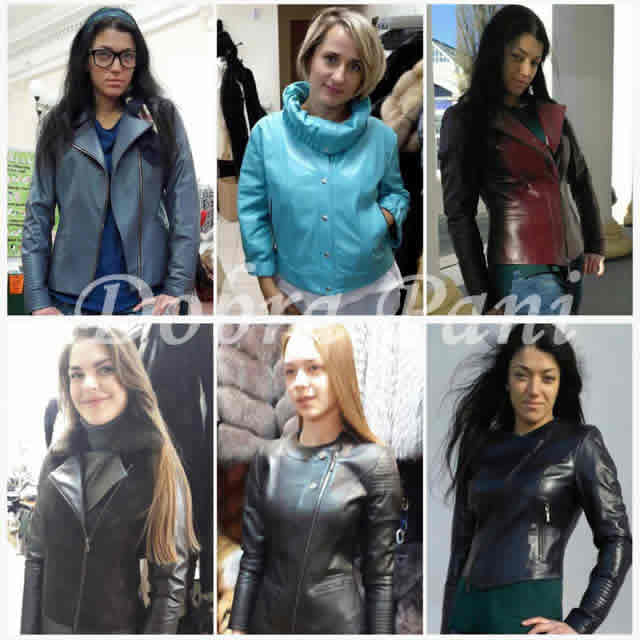Кожаные женские куртки на меховой выставке-ярмарке во Дворце Спорта