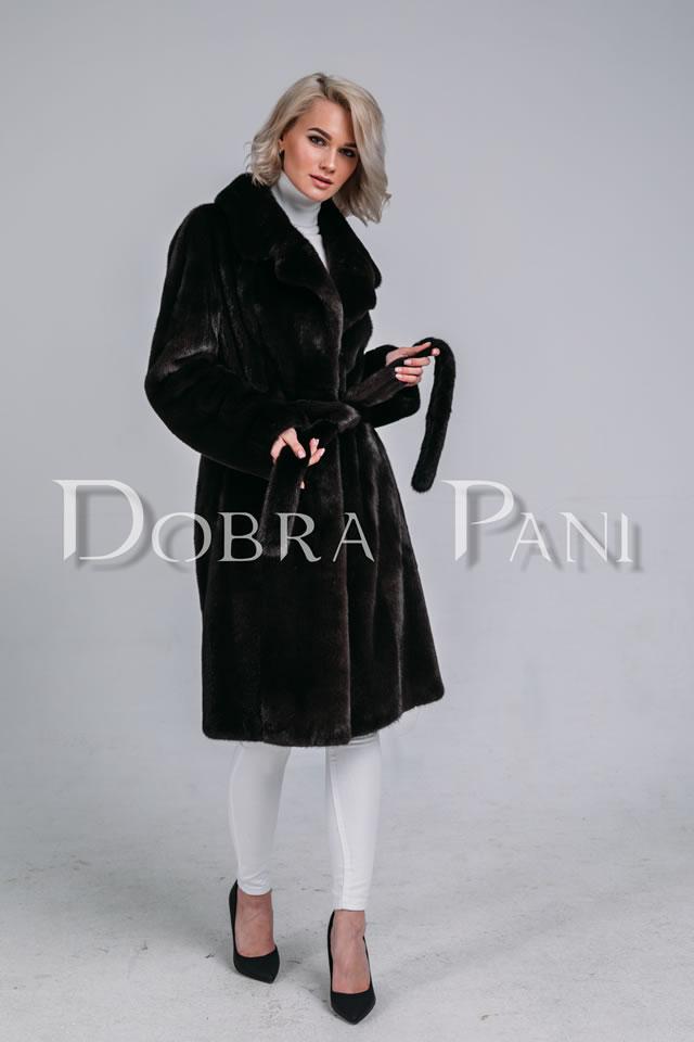 Черная норковая шуба-пальто blackglama в Киеве