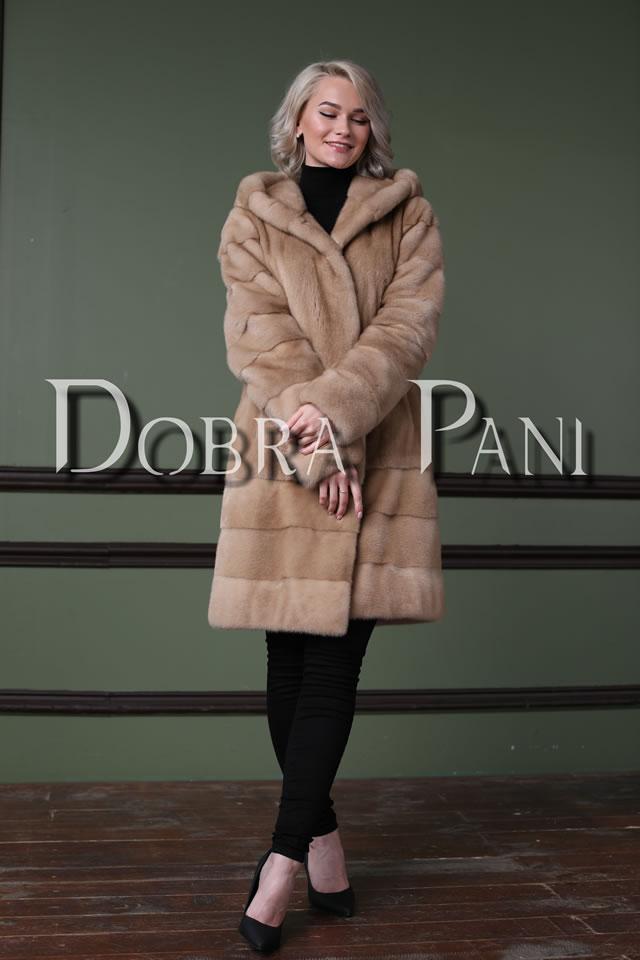 Норковая шуба светло-коричневого цвета в Киеве от Dobra Pani