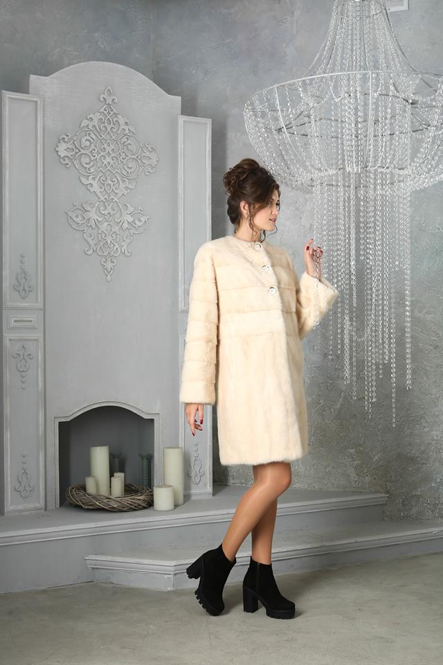 Меховая куртка-шуба из чернобурки