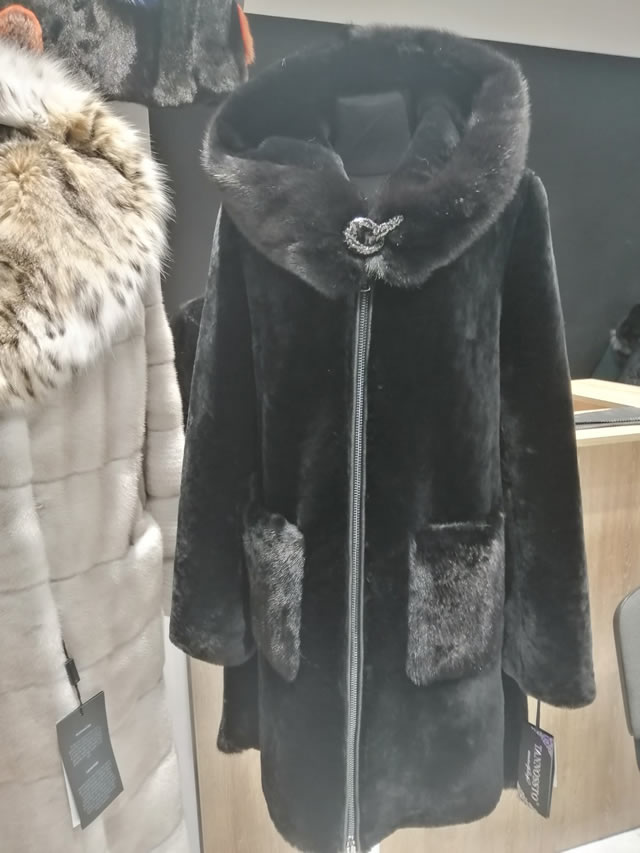 норковая меховая куртка-шуба на молнии
