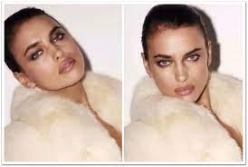 Ирина Шейк в образе голливудской звезды в кремовой шубе