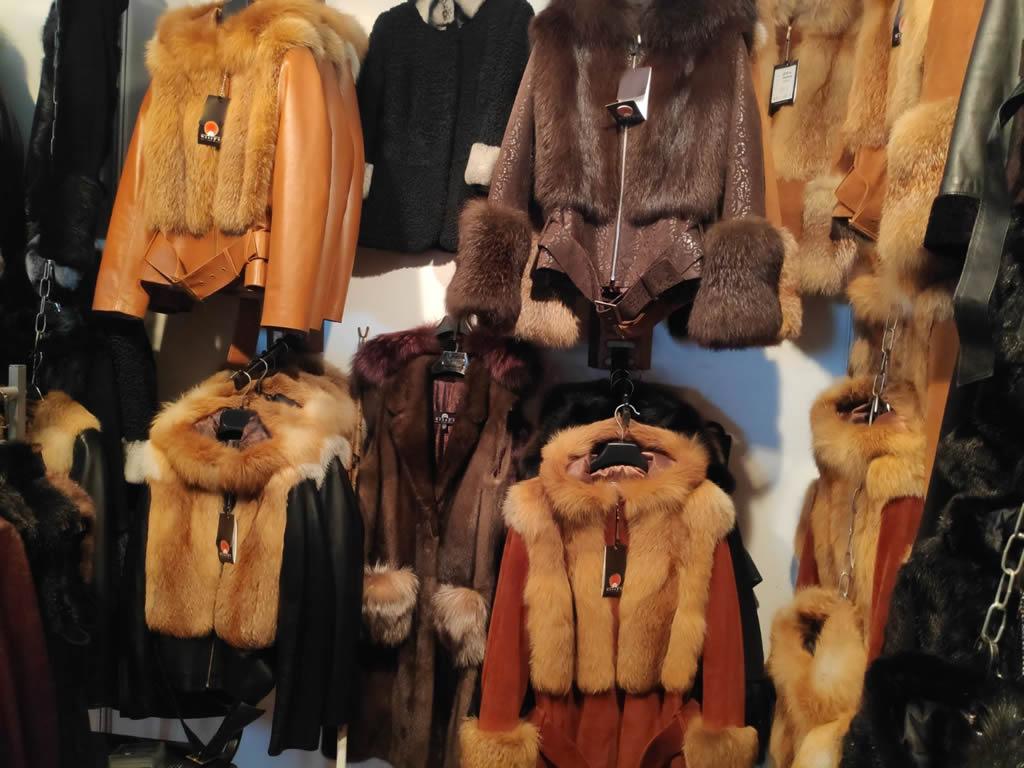 купить женскую кожаную куртку с мехом лисы в Киеве на выставке-ярмарке
