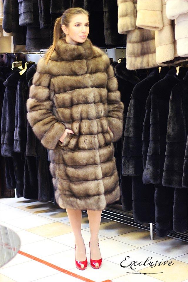 Купить шубу из меха соболя от Exclusive Furs