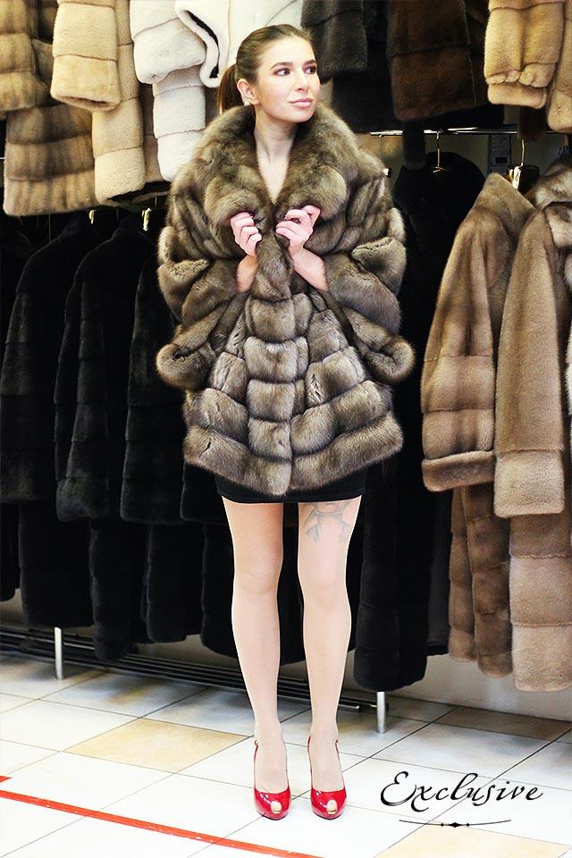 Роскошные шубы из меха баргузинского соболя от Exclusive Furs в Киеве