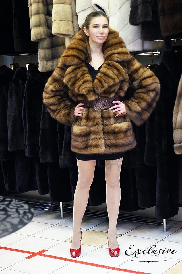 Эксклюзивные полушубки и пальто из меха соболя в Киеве
