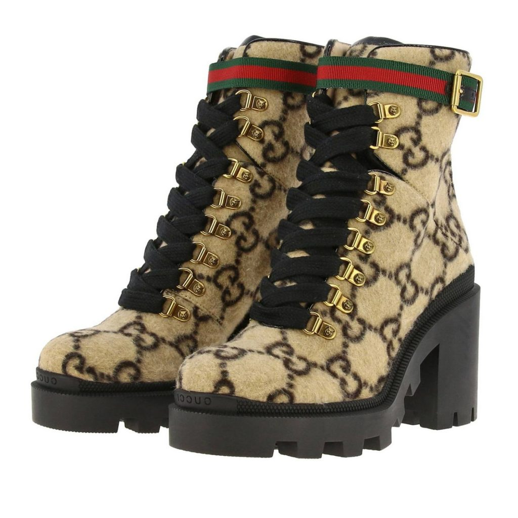Gucci выпустил забавные женские ботинки с мехом